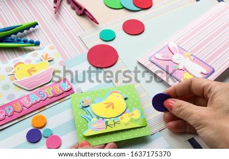 Making a scrap booking easter wish card/Scrapbook, Craft, Art #1637175370