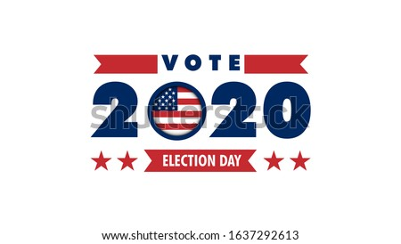 Election day. Usa debate of president voting 2020. Election voting poster. Vote 2020 in USA, banner design. Political election campaign #1637292613