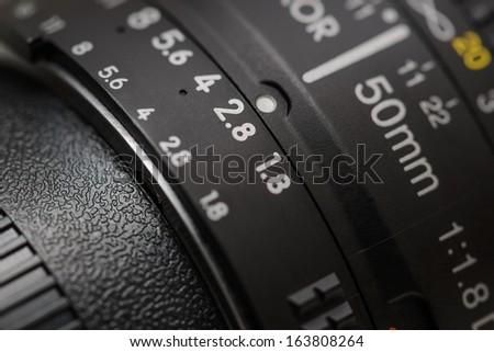 Old lens marking close up #163808264