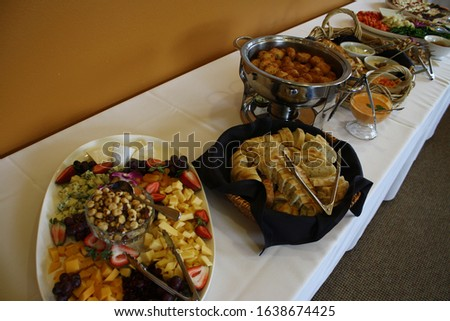 Food, party food, buffet, table of food, serving a group, catering, catered #1638674425
