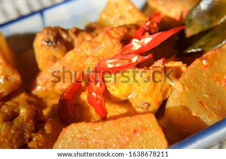 Cow's Foot Curry, Indonesian dish