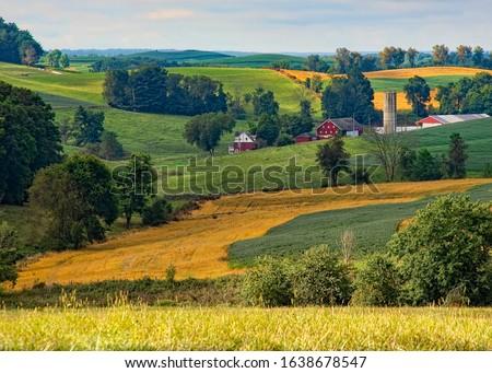 Beautiful farmland in the Ohio countryside #1638678547