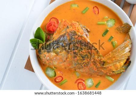 Fish head curry, Indonesian dish