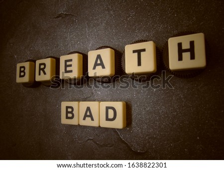 Breath Bad, word cube with background. #1638822301
