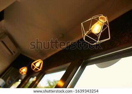 Decorative lamps. Decorative chandeliers. Interior. #1639343254