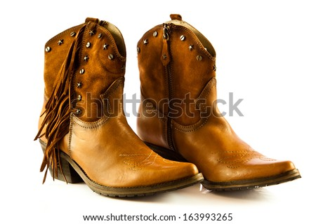 Cowboy shoes isolated on a white background  #163993265