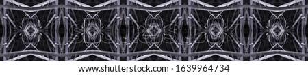 Black Vintage Seamless Background. Ethnic Ornament Print. Ethnic Ornament Print. Black Tile Embroidery net. Old fashion Design. Hand Drawn. Kaleidoscope Pattern Floral Elements Floral Pattern. #1639964734