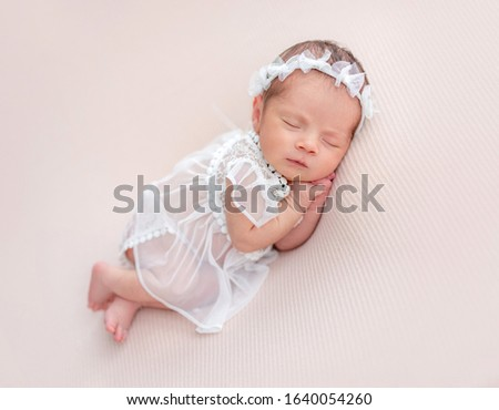 Innocent newborn angel in cute outfit #1640054260