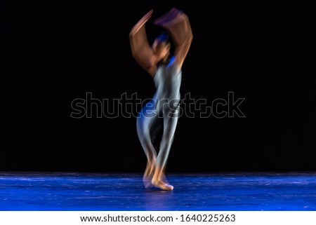 The abstract movement of the dance #1640225263