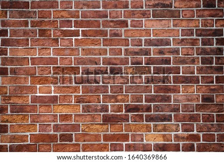 Red grunge brick wall, abstract background texture with old dirty and vintage style pattern Royalty-Free Stock Photo #1640369866