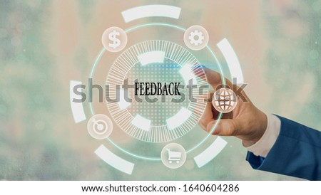 Word writing text Feedback. Business concept for information about reactions to product demonstratings perforanalysisce of task. #1640604286
