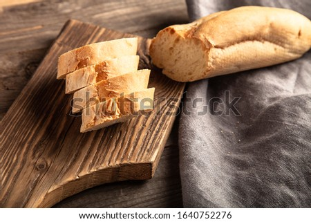 Rustic composition with a rough linen napkin. #1640752276