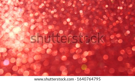 defocused abstract red christmas background with star bokeh. blurred. defocus. #1640764795