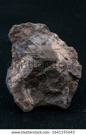 Chondrite Meteorite L Type isolated, piece of rock formed in outer space in the early stages of Solar System as asteroids. This meteorite comes from an asteroid fall impacting Earth at Atacama Desert