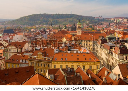 Red Rooftops of Buildings of the Old Town in Prague, Czechia #1641410278