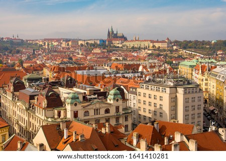 Red Rooftops of Buildings of the Old Town in Prague, Czechia #1641410281