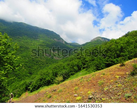 Pictures of mountains and valleys, mountain forests and valley roads #1641530353