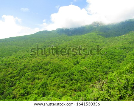Pictures of mountains and valleys, mountain forests and valley roads #1641530356
