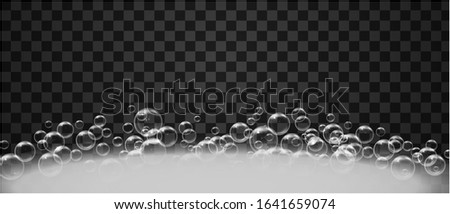 Bath foam with shampoo bubbles, isolated. Clip-art illustration