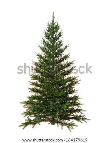 Christmas tree isolated on white background #164179619