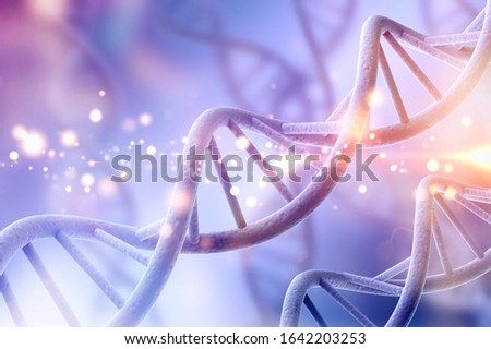Science original biotechnology DNA illustration Royalty-Free Stock Photo #1642203253