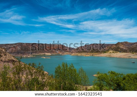 Amazing landscape of The Atuel Canyon in Valle Grande, Argentina.  #1642323541