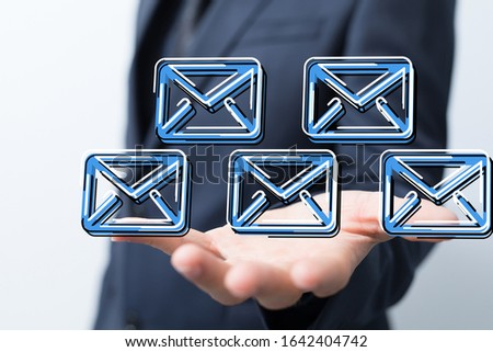 email icons in work space 3d #1642404742