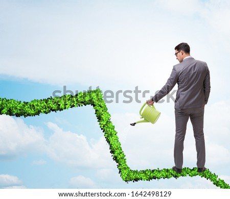 Businessman in responsible ecological business #1642498129