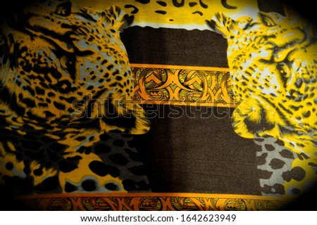 texture, pattern, background. leopard silk fabric. Screen printing on silk duck; This is a template for your accents. Create projects, wallpapers, postcards and more. Colors include brown and brown #1642623949