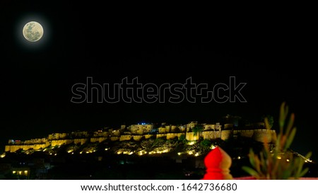 """Jaisalmer Fort is believed to be one of the very few """"living forts"""" in the world (such as Carcassonne, France). Panorama #1642736680"""