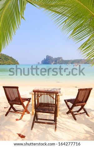 sea and coconut palm tree #164277716