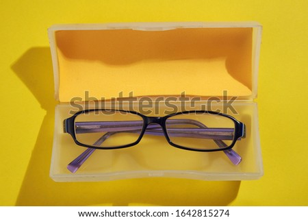 Close up of kid's spectacles  #1642815274