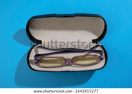 Close up of kid's spectacles  #1642815277