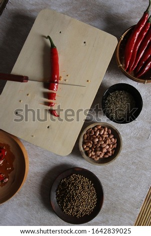 making food ingredients with the basic ingredients of chili #1642839025
