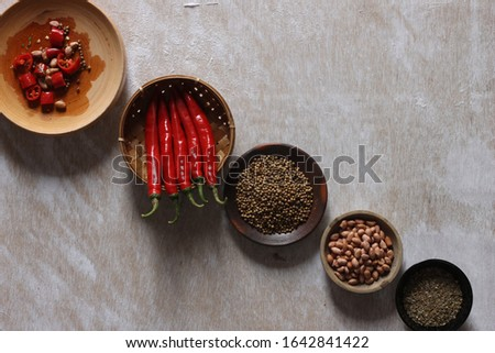 making food ingredients with the basic ingredients of chili #1642841422