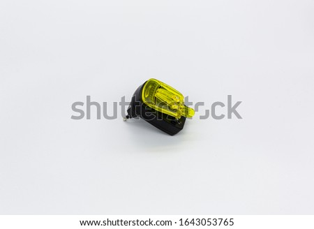Yellow charger that can charge different electronic devices #1643053765