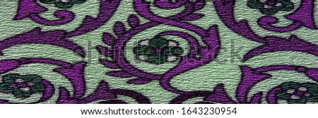Texture background pattern , silk fabric, moderate soothing colors, royal monogram pattern, white, green azure colors on the fabric. your design will be steeped in the spirit of the Middle Ages