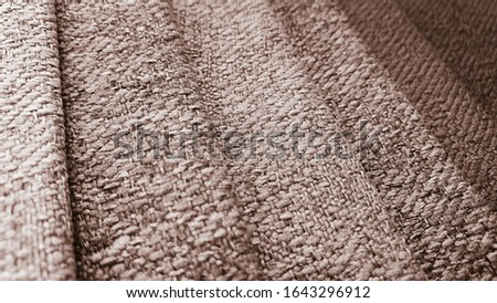 macro view of brown shades fabric texture background.retro classic fabric samples.