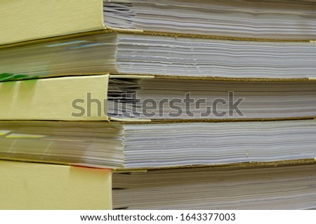 Paper document. Folder with documents. Storage of documents. Folders with cases. Search in archived documents. #1643377003