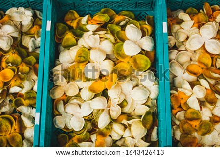 dried mandarin peels or dry, peeled tangerine skin for sale - #1643426413
