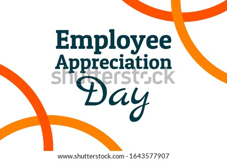 Employee Appreciation Day concept. First Friday in March. Holiday concept. Template for background, banner, card, poster with text inscription. Vector EPS10 illustration Royalty-Free Stock Photo #1643577907