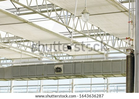 Close-up of steel structure greenhouse structure #1643636287