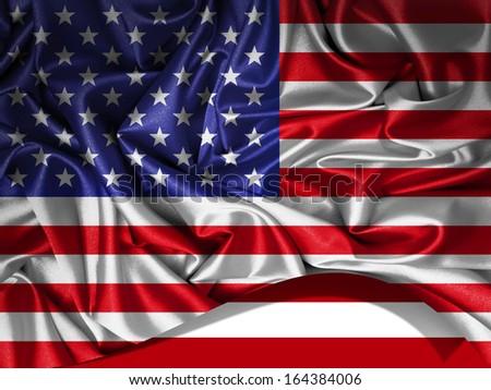 america  flag fabric, background #164384006