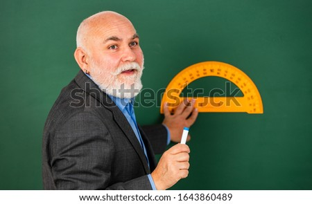 Stem knowledge. Knowledge concept. Investigation and research. Develop attitude openness and flexibility towards learning. Man bearded tutor chalkboard background. Mature lecturer share knowledge. #1643860489