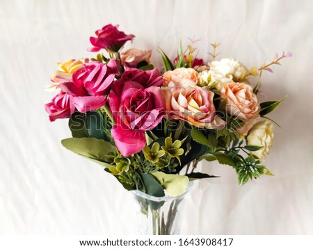 very beautiful flower arrangements with white background #1643908417