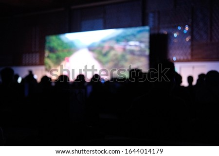 Blurred background, blurred people. Royalty high quality free stock of abstract blur and defocused of audience in a conference room. #1644014179