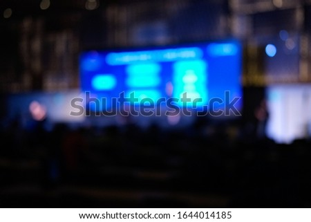 Blurred background, blurred people. Royalty high quality free stock of abstract blur and defocused of audience in a conference room. #1644014185