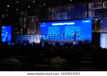 Blurred background, blurred people. Royalty high quality free stock of abstract blur and defocused of audience in a conference room. #1644014203