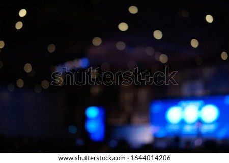 Blurred background, blurred people. Royalty high quality free stock of abstract blur and defocused of audience in a conference room. #1644014206
