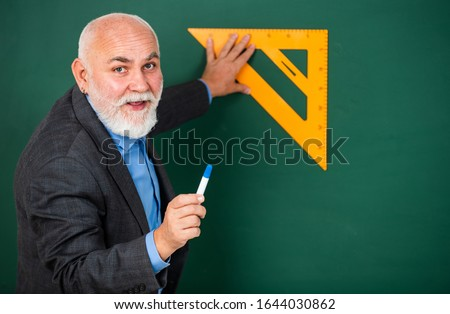 How succeed in math. Drawing tips. Become lifelong learners. Man bearded tutor chalkboard background. Mature lecturer share knowledge. Stem knowledge. Knowledge concept. Investigation and research. #1644030862